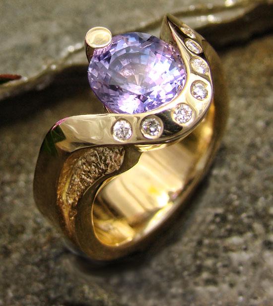 Award Winner - Purple Sapphire Ring #112