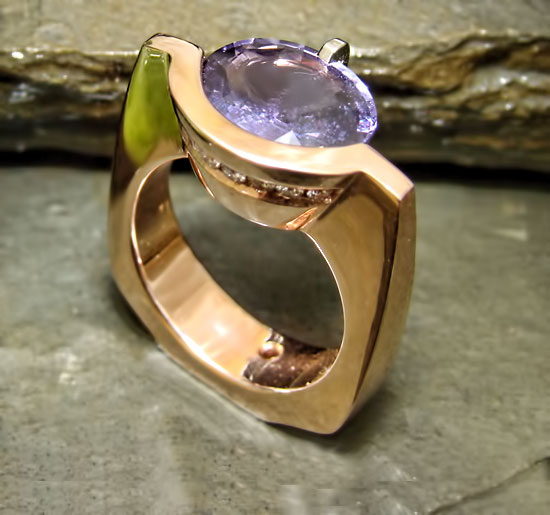Award Winner 2011 - Purple Sapphire Rose Ring #116