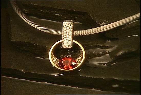 Award Winner 2005 - Pendant with Spessartine Garnet #119