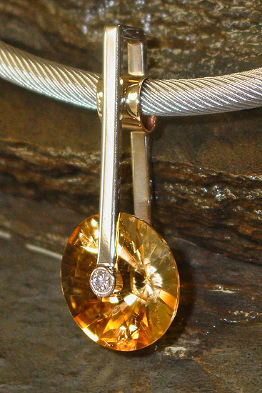 Award Winner - Citrine Pendant #122