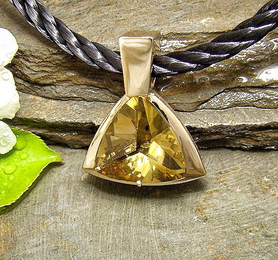 Oro Verde Citrine Pendant #126