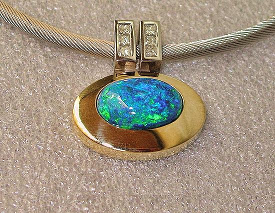 Black Opal Pendant #141