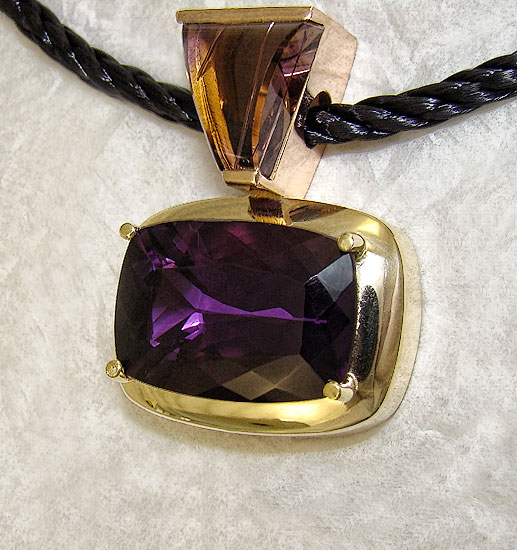 Amethyst with Amatrine Bail Pendant#142