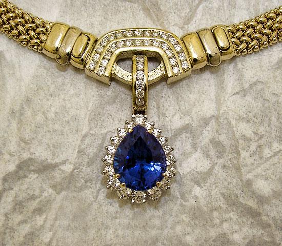Tanzanite Diamond Hinged Pendant Enhancer #147