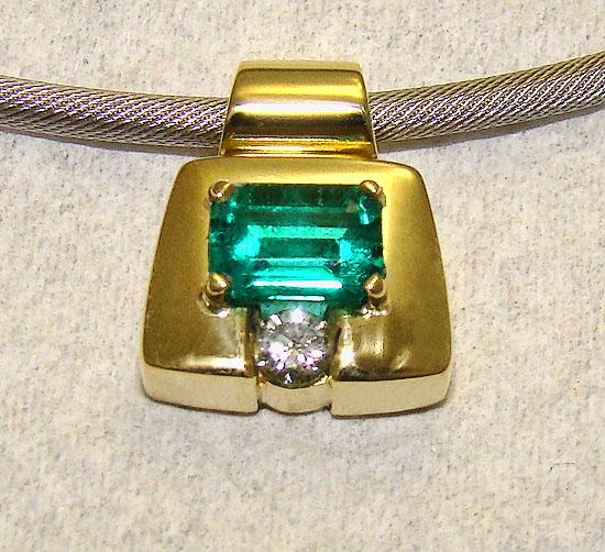 Emerald Pendant #151