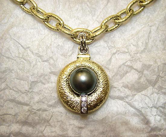 Tahitian Green Pearl Pendant #154