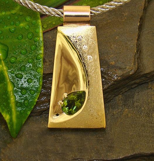 Green Tourmaline Pendant #157