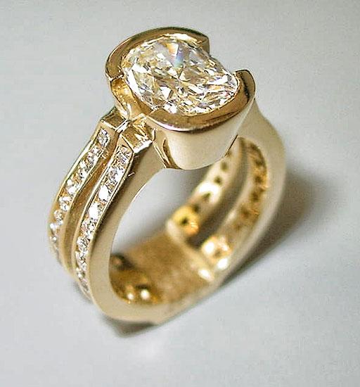 Diamond with Diamond Shank Ring #196