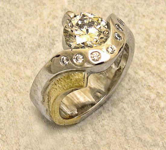 Diamonds Scoop Ring #199