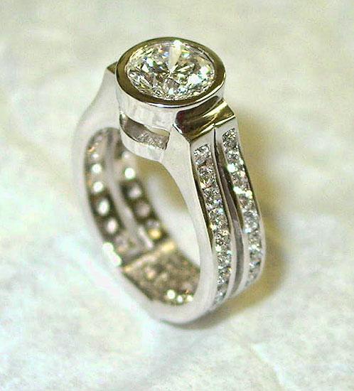 Diamond Ring with Double Diamond Shank #200