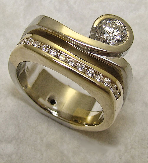 Two in One Diamond Band-Hers #209