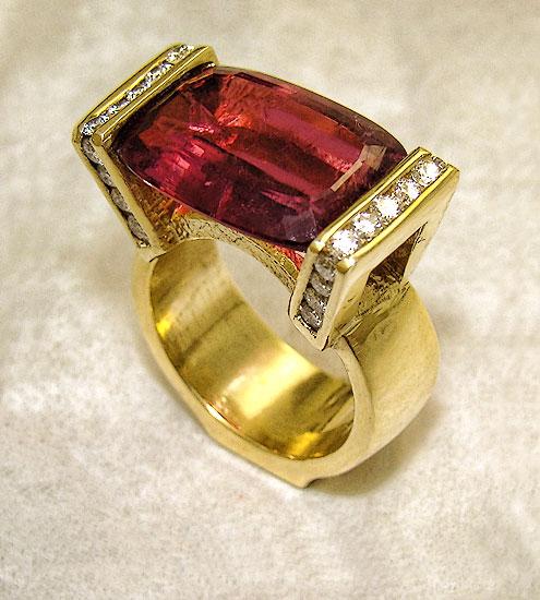 Pink Tourmaline Ring #243
