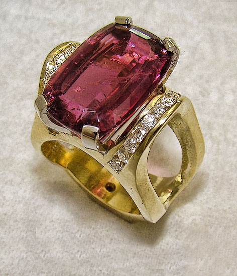 Pink Tourmaline Ring #244
