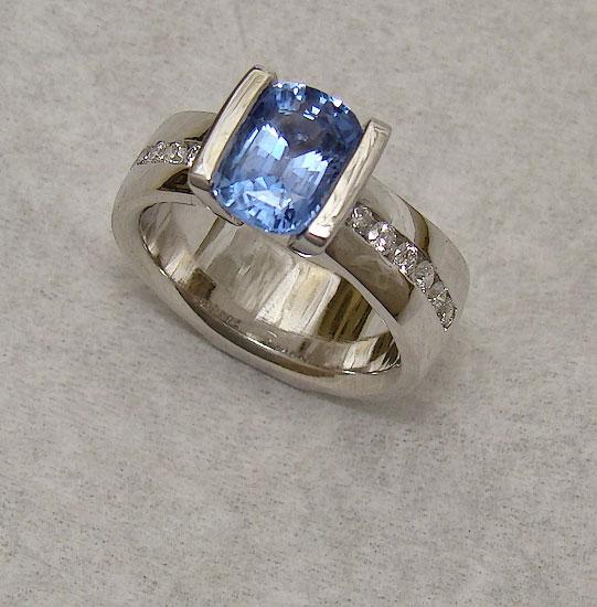 Sapphire Diamond Band #247