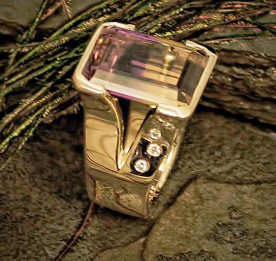 Amatrine Diamond Ring #177