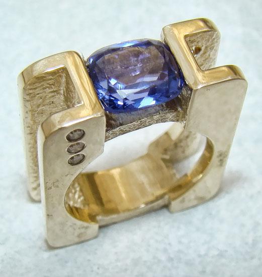 Tanzanite Squared Ring #179