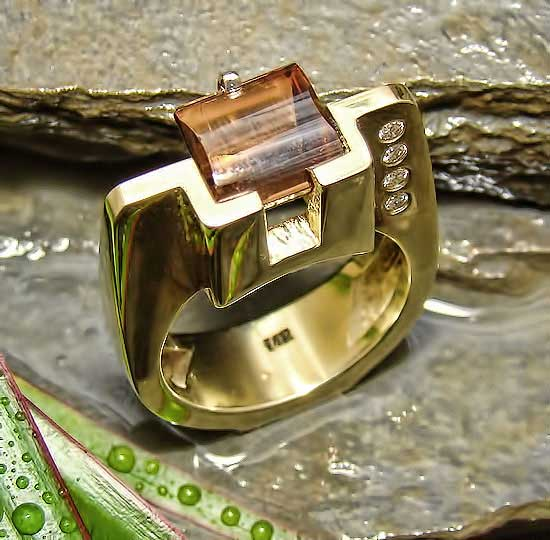 Cinnamon Tourmaline Ring #188