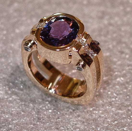 Purple Sapphire Ring #220