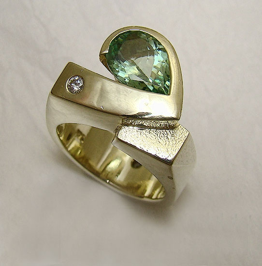 Mint Green Tourmaline Ring #226