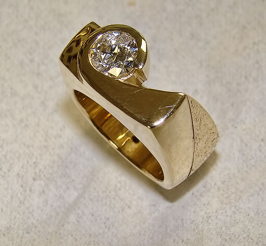 Right Hand Diamond Ring Custom #164