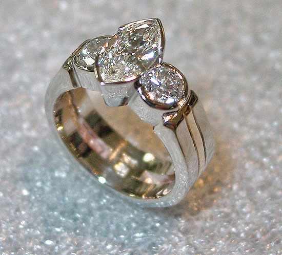 Marquise Diamond 3 Stone #189